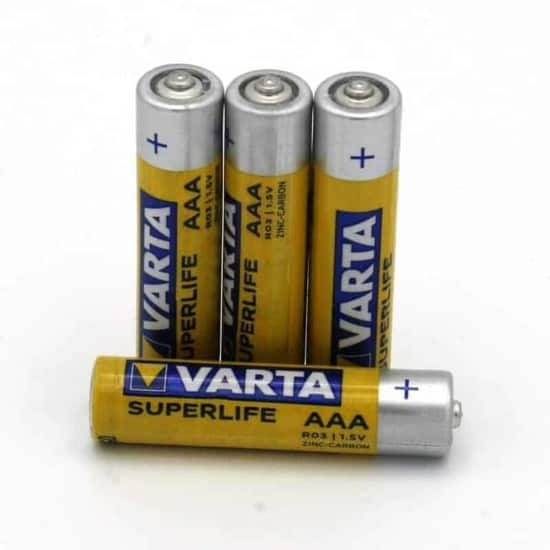 Batterie VARTA Superlife Micro AAA 4er Packung | goopri