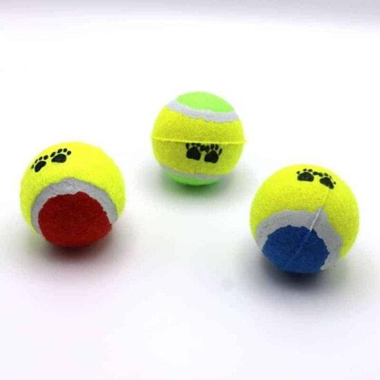 Tennisbälle 3er Set Hundespielzeug Wurfspielzeug