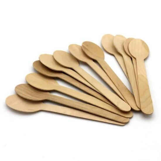 Holzlöffel Einwegbesteck Küchen Eleganz 50 Stück